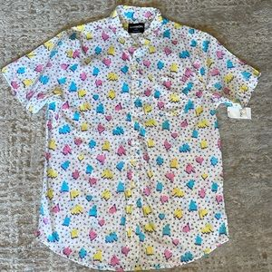 Carbon Men's Short Sleeve Button-up Shirt